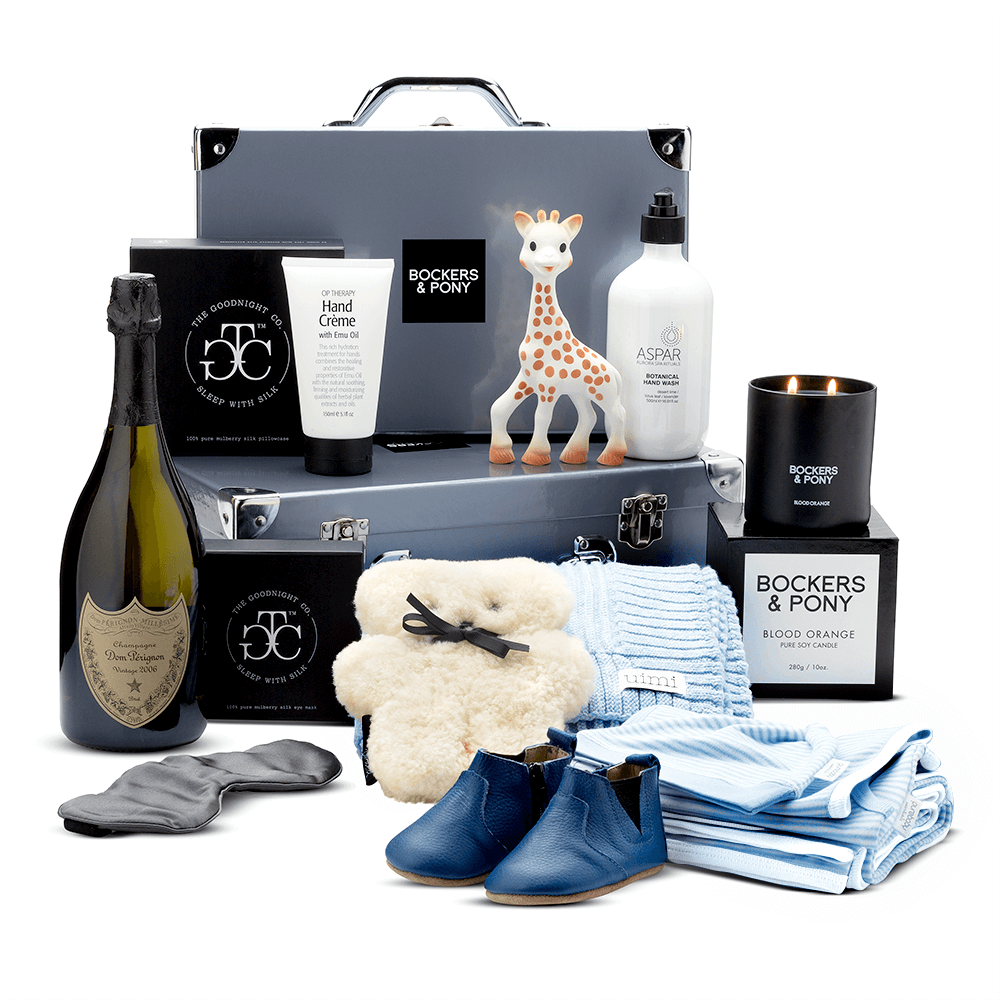 Lap Of Luxury Baby Boy Hamper - Classic gift hamper