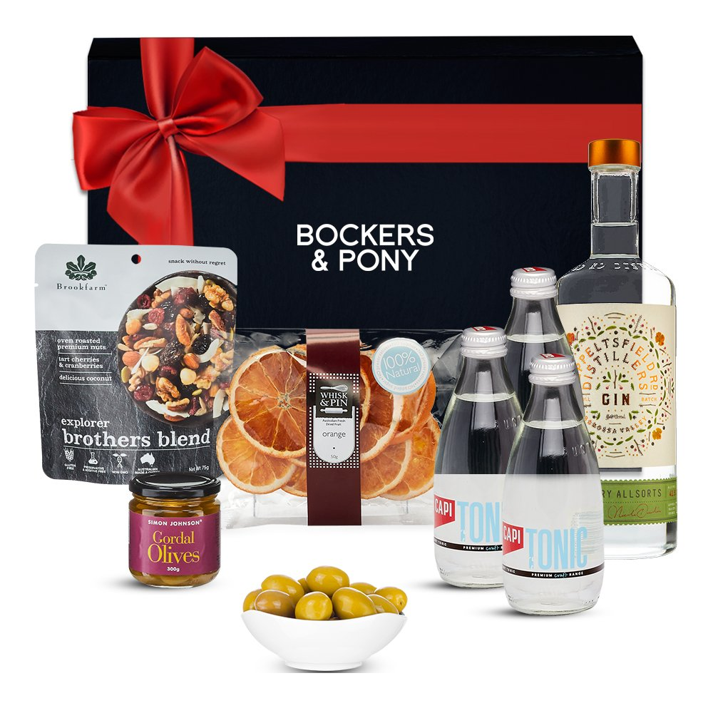 Gin Lovers Gift Hamper and Seppeltsfield Rd Savoury All Sorts Gin gift hamper