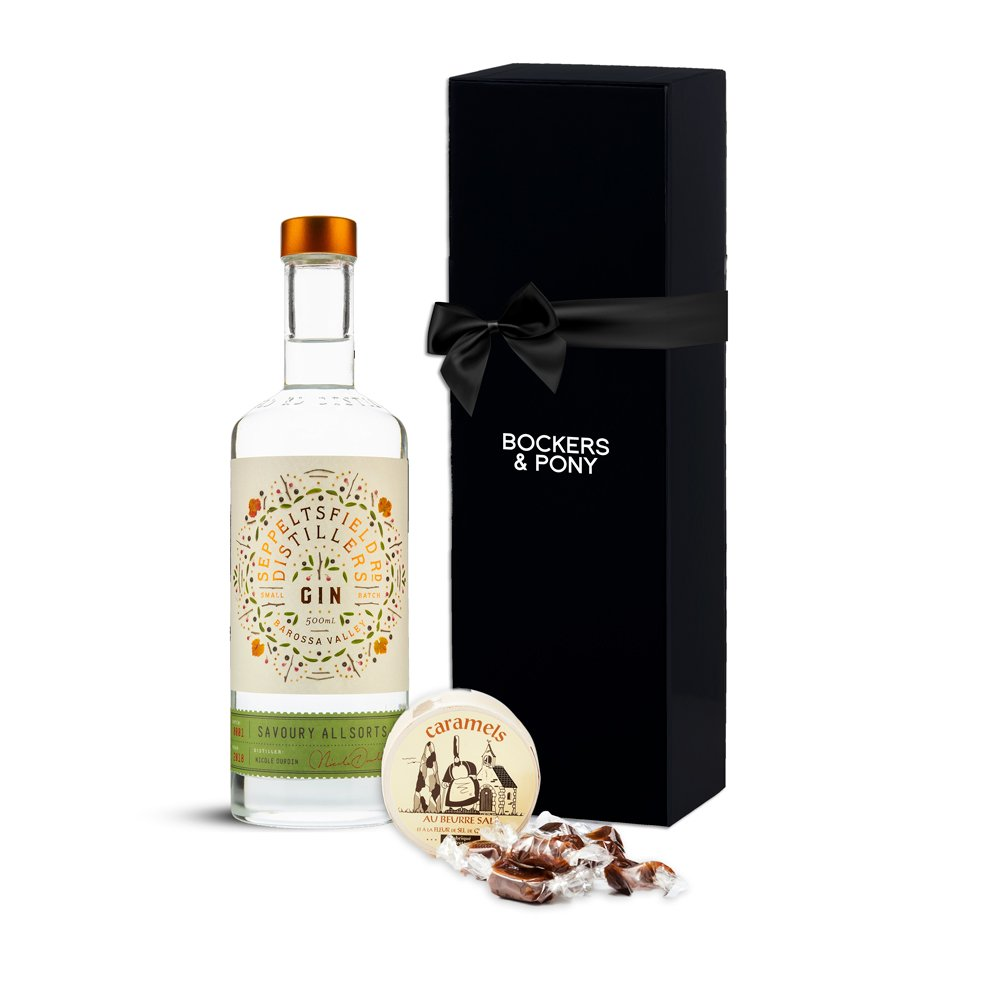 Seppeltsfield Rd Savoury All Sorts Gin + Caramels gift hamper